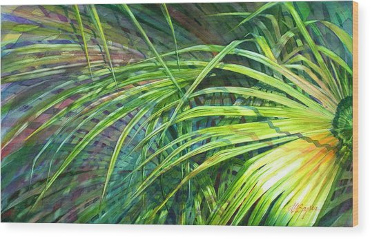 Rainbow Palms Wood Print