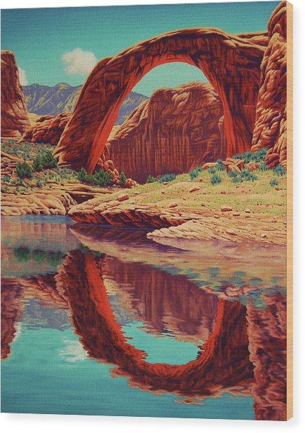 Rainbow Reflection Wood Print