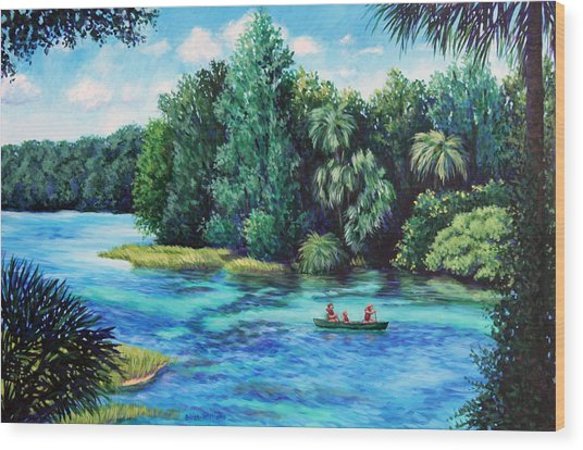 Rainbow River At Rainbow Springs Florida Wood Print