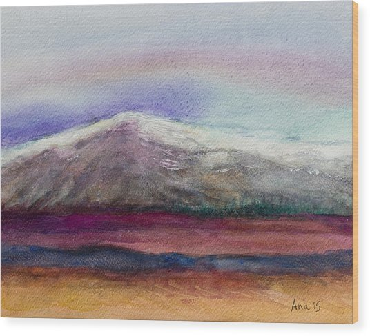 Rainbow Sky In Alaska Wood Print by Anais DelaVega