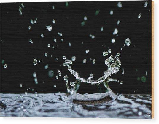 Raindrop Wood Print