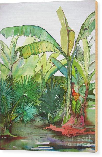 Rainforest Wood Print by Maya Simonson