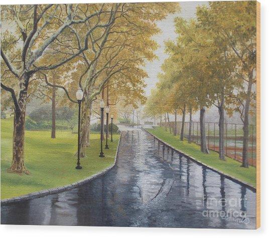 Rainy Afternoon At Montauk Wood Print