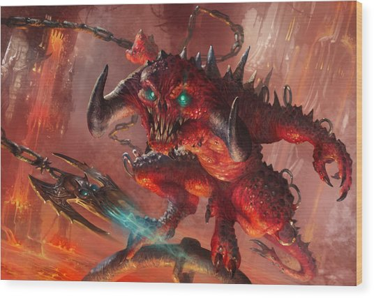 Rakdos Cackler Wood Print