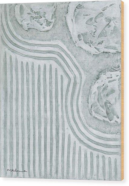 Raked Zen Garden Wood Print