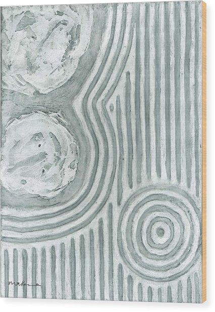Raked Zen Whirlpool Wood Print