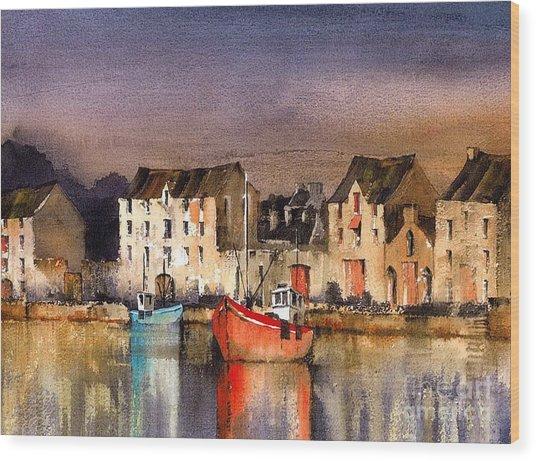 Ramelton Dusk  Donegal Wood Print