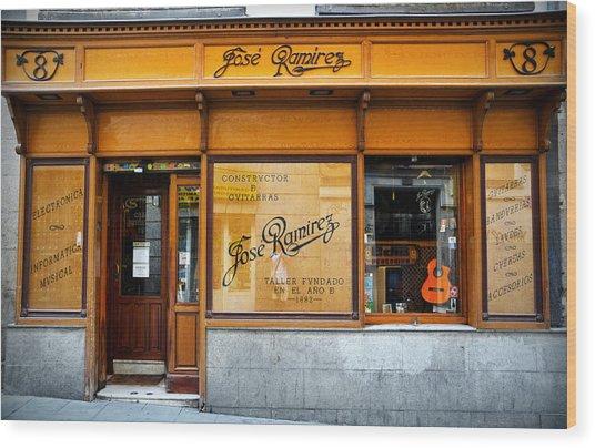 Ramirez Guitars Workshop Wood Print
