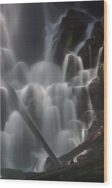 Ramona Falls Detail 2 Wood Print