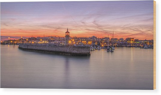 Ramsgate Harbour Summer Sunset  Wood Print