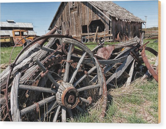 Ranch Wagon Wood Print