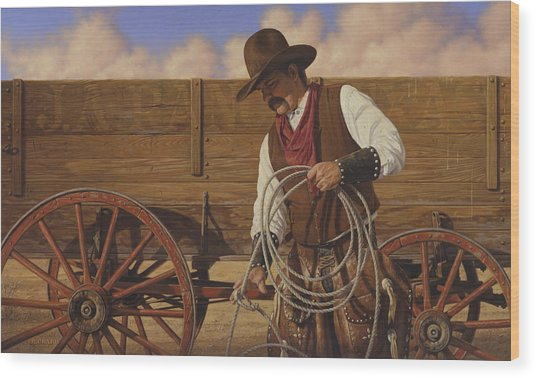 Ranch Wagon Wood Print