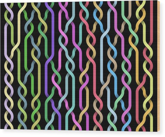 Random Braid 3 Wood Print