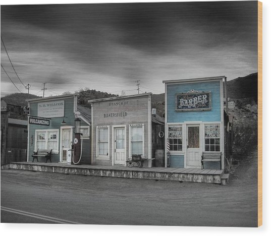Randsburg Gas Station And Shops Wood Print