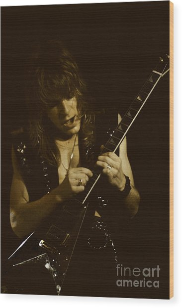 Randy Rhoads At The Cow Palace  Wood Print