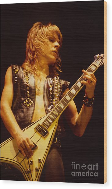 Randy Rhoads At The Cow Palace In San Francisco Wood Print