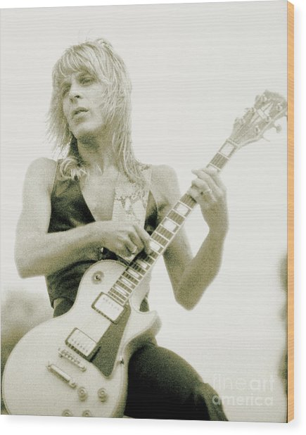 Randy Rhoads Day On The Green - Latest Unreleased One With Normal Sky Background Wood Print