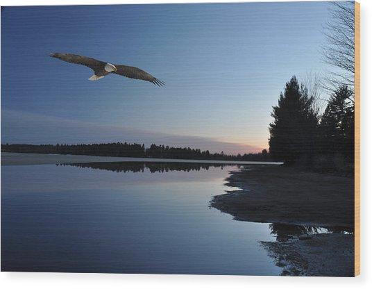 Rangeline Lake Wood Print by RJ Martens