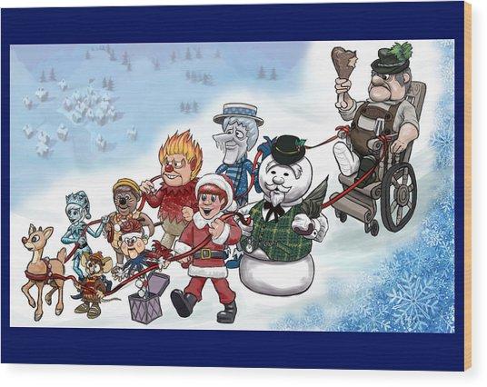 Rankin Bass Christmas Wood Print by Jennifer Hotai