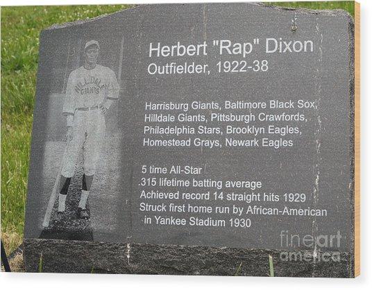 Rap Dixon Wood Print