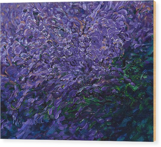 Rapacity's Dawning Bloom Wood Print