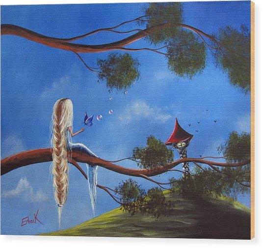 Original Fantasy Art By Shawna Erback Wood Print by Shawna Erback