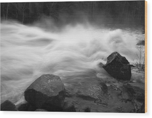 Raquette River Wood Print