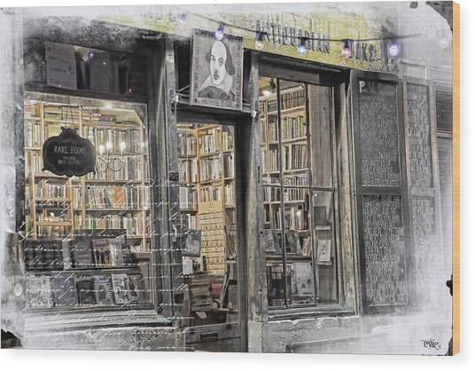 Rare Books Latin Quarter Paris France Wood Print