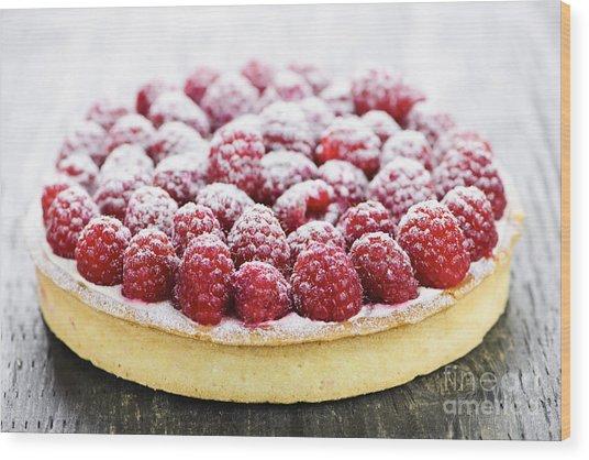 Raspberry Tart Wood Print