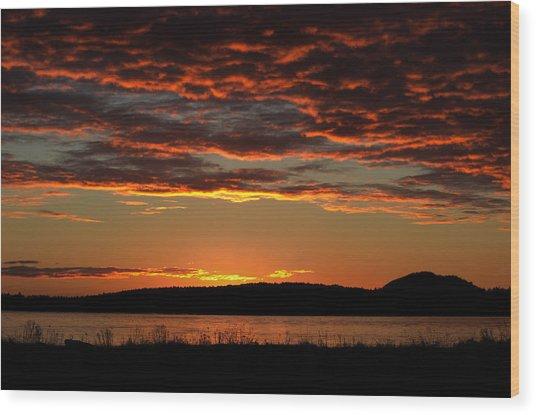 Rathtrevor Sunrise Wood Print