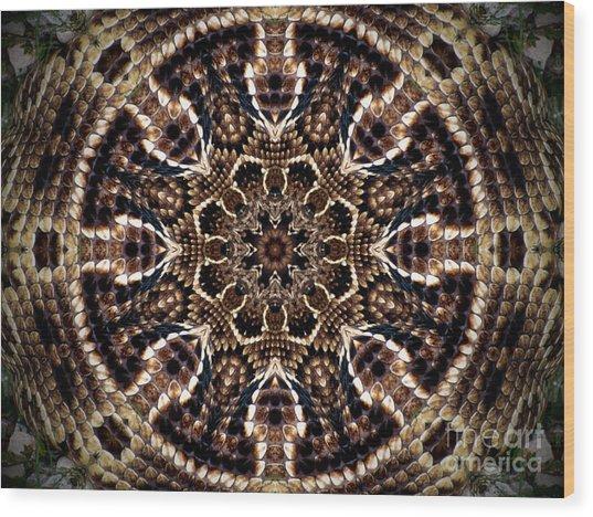 Rattlesnake Circle Wood Print