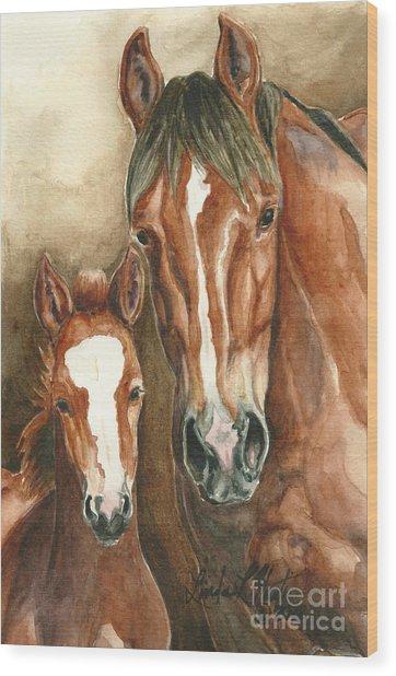 Lark And Robin Of Sand Wash Basin Wood Print