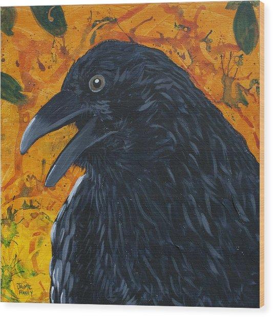 Raven Festival Wood Print