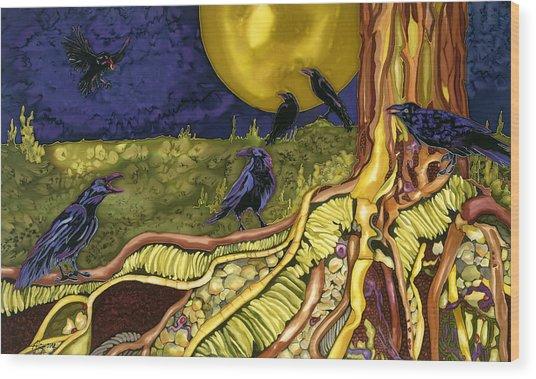 Raven's Cache Wood Print