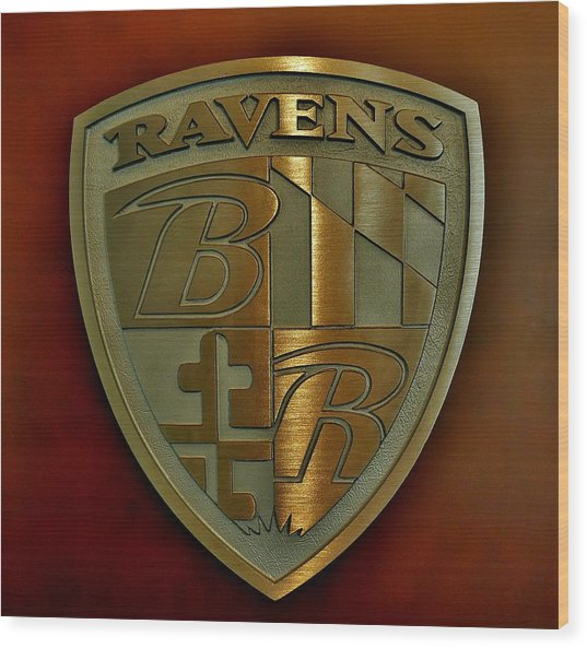 Ravens Coat Of Arms Wood Print