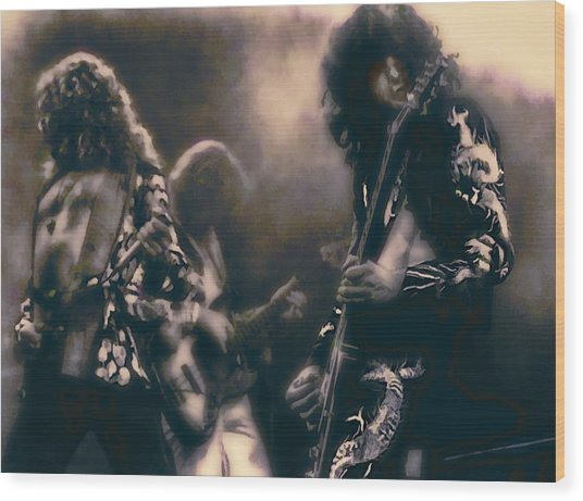 Raw Energy Of Led Zeppelin Wood Print