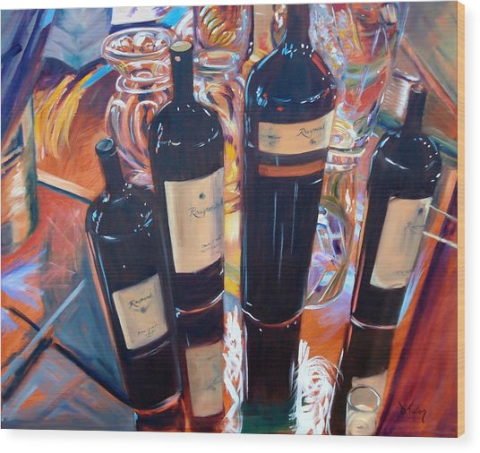 Raymond Vineyards Crystal Cellar Wood Print