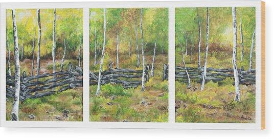 Ray's Meadow Wood Print
