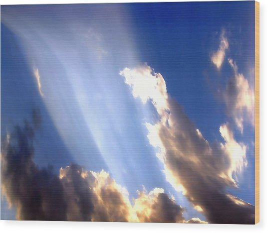 Rays Of Light Wood Print by Jose Lopez