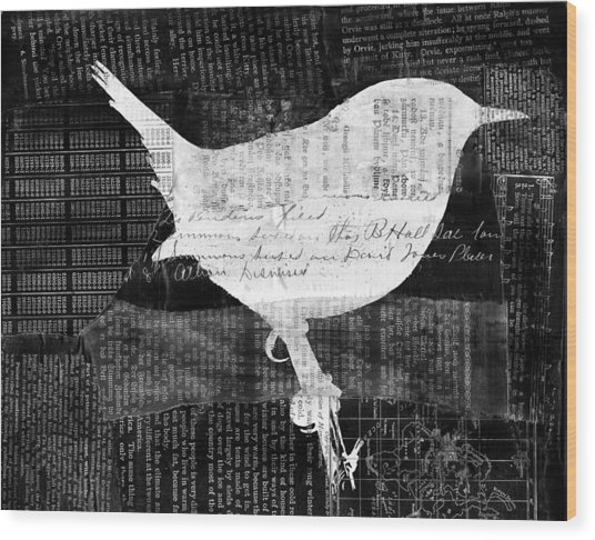 Reader Bird Wood Print