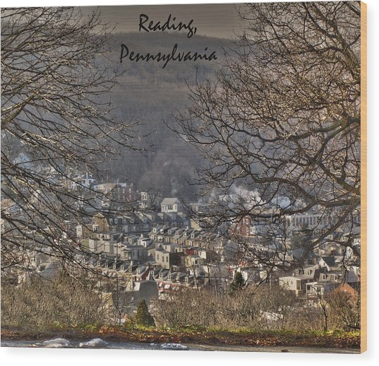 Reading Pennsylvania Wood Print