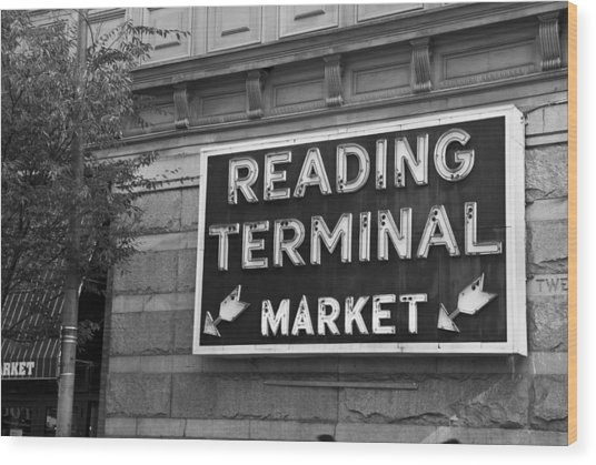 Wood Print featuring the photograph Reading Terminal Market by Jennifer Ancker