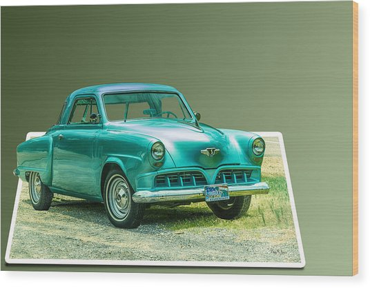 Classic - Car - Studebaker - Ready For A Spin? Wood Print by Barry Jones