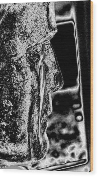 Real Men Cry Wood Print by Rebecca Flaig