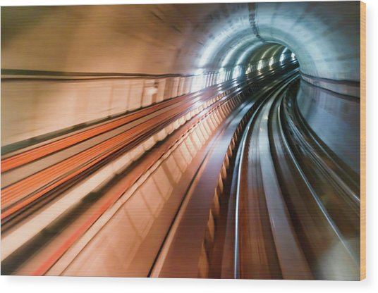 Real Tunnel With High Speed Wood Print by Fredfroese