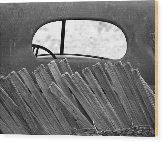 Rear View Wood Print