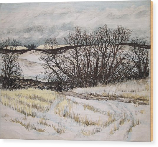 Reardon Wa Fields Wood Print