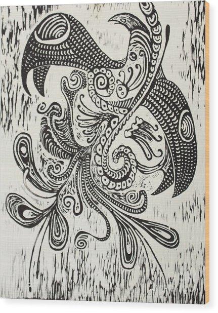 Rebirth Wood Print