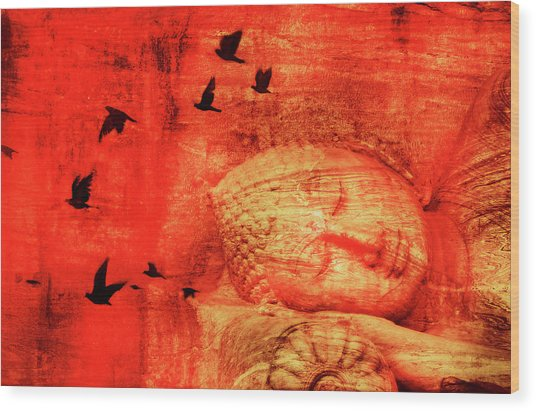 Reclining Buddha Wood Print by Grant Faint