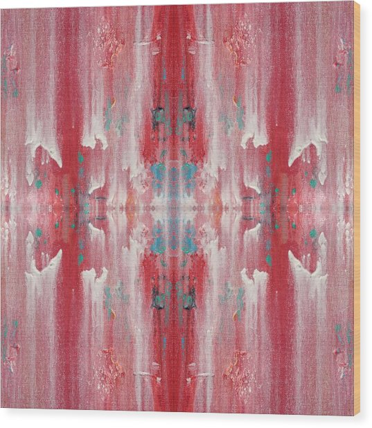 Recombinant Navajo Weaving Wood Print